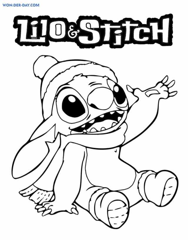 Ausmalbilder Lilo und Stitch - Malvorlagen für Kinder