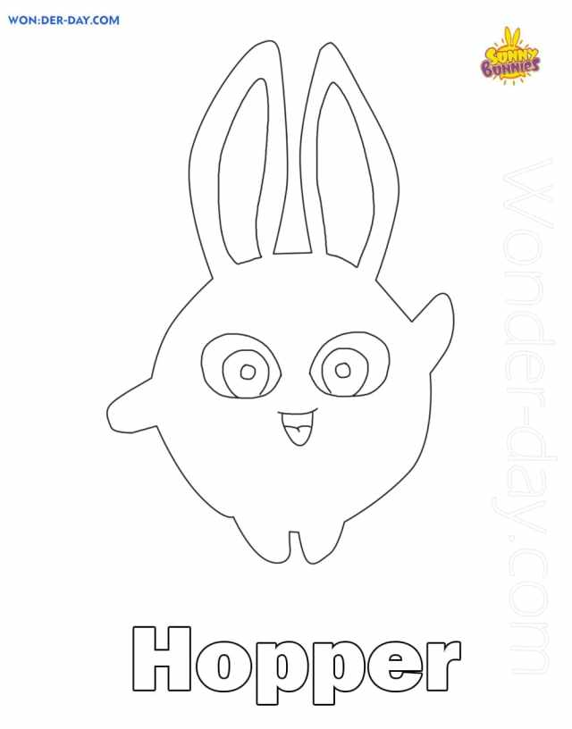 Sunny Bunnies Coloring Pages - Printable coloring pages
