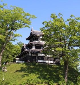 Takada castle's the scaffold