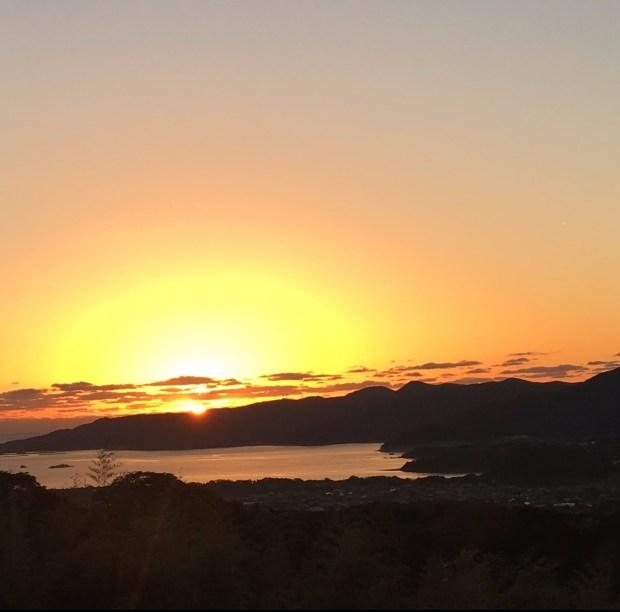 Sunset from Fukue Island Hotel
