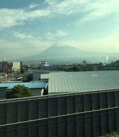 Mt. Fuji from Bullet train between Tokyo and Kyoto