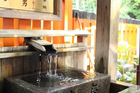 Purification water at Fushimi Inari in Kyoto