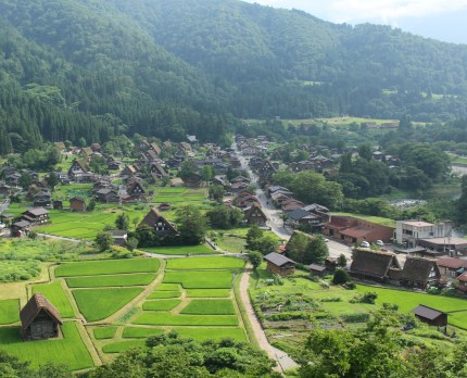 The view from the Ogimachi castle historic site Observatory