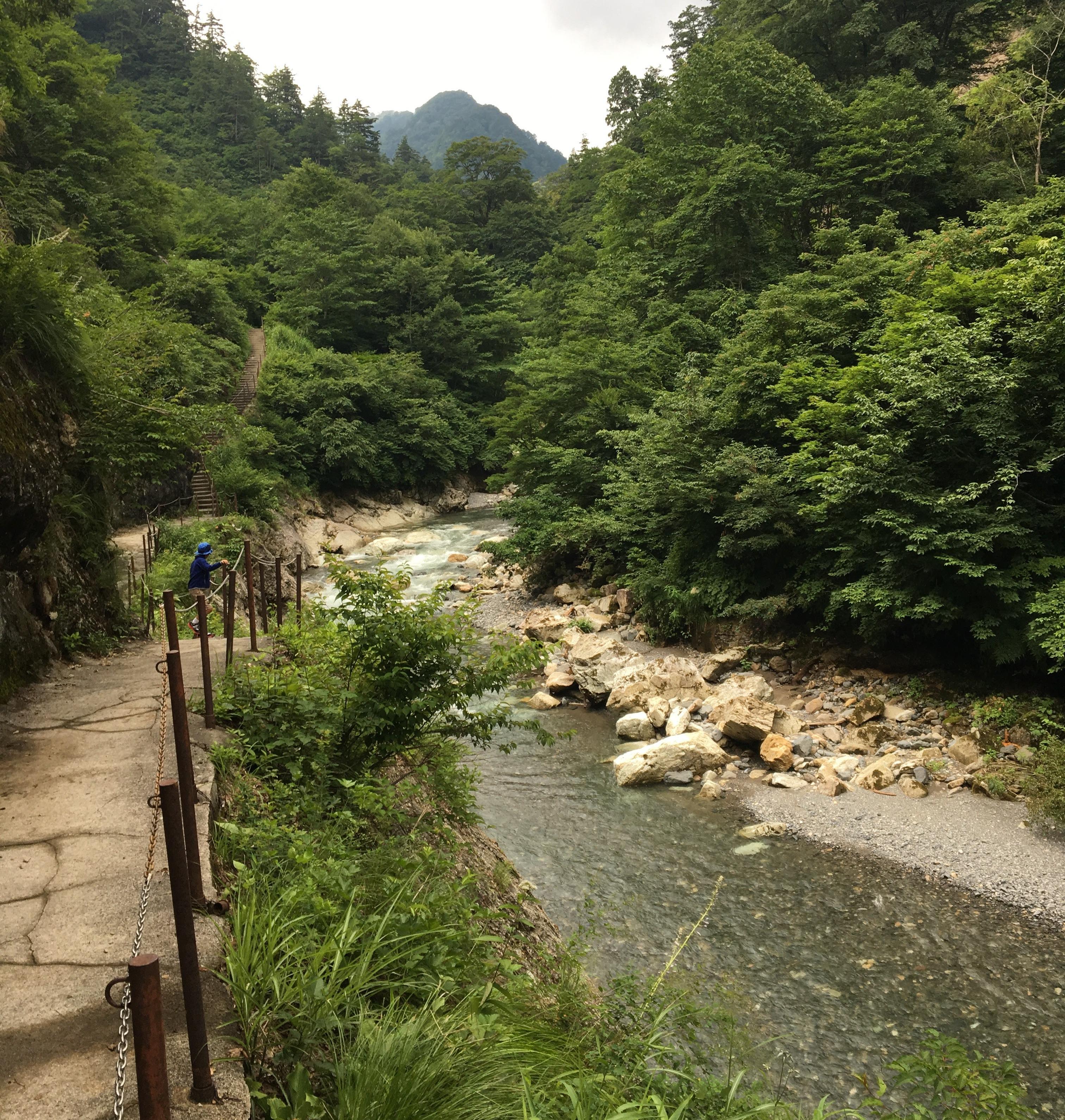 A stream to Ubagataki Fall.