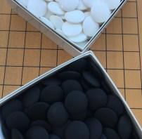 Go stones made of Nachi black stone