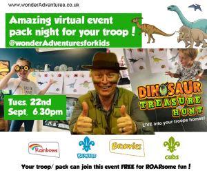 education for kids dinosaur event