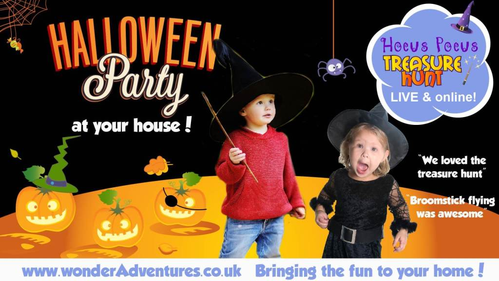 LIVE streamed halloween fun for kids
