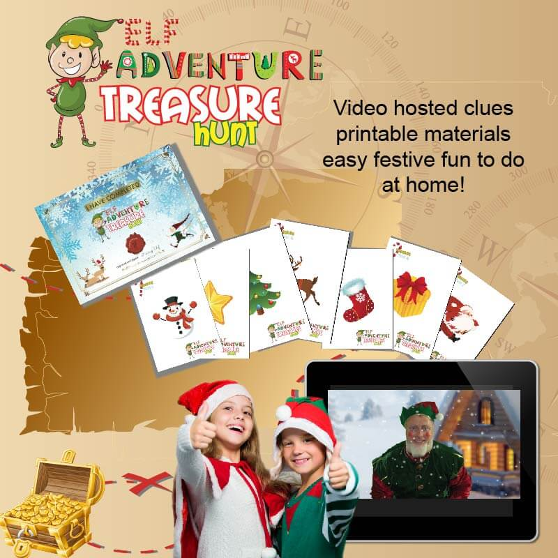 elf adventure treasure hunt game for kids