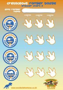 cretaceous dino badge sheet