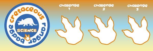 cretaceous science badge for kids