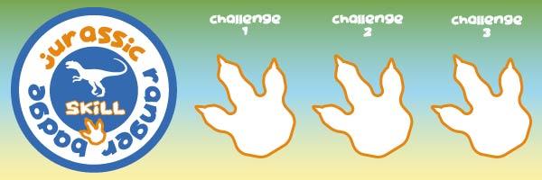 jurassic dino skills badge for kids