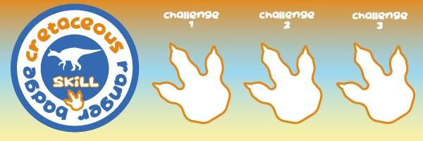 cretaceous dino skills games badge