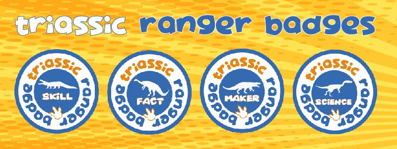 dino club badge scheme triassic