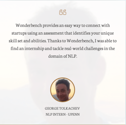 Wonderbench NLP Intern Review