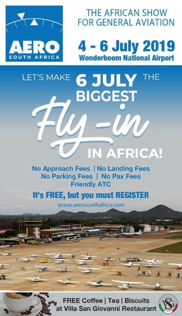Biggest Fly-in in Africa! 6 July 2019