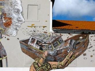 Pixel Pancho et Vhils Lisbonne
