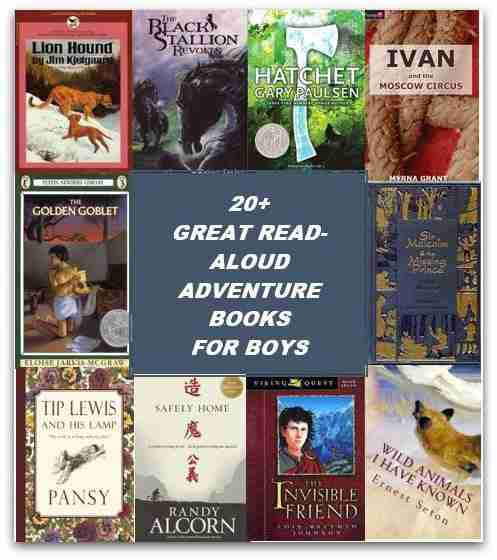 20+ Great Read-aloud Adventure Books for Boys