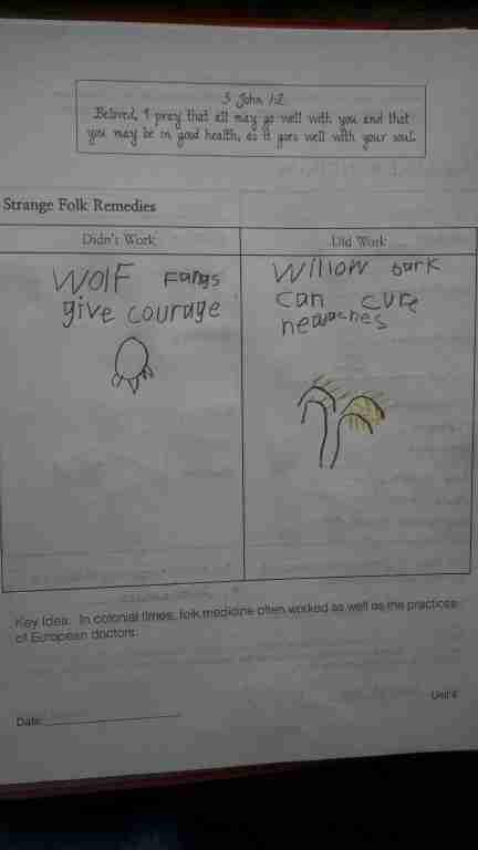Folk Remedy Notebook page