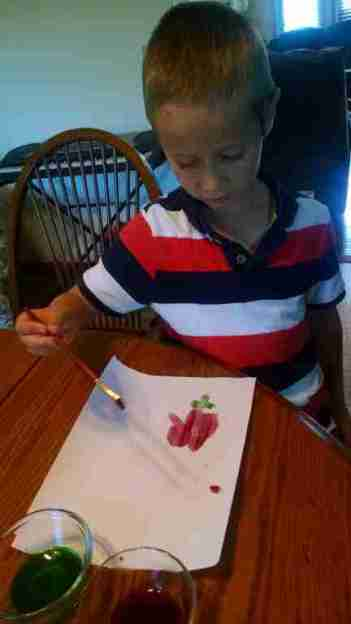 Painting with berry juice