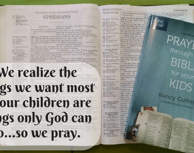 The One Year Praying Through the Bible for Your Kids {review}