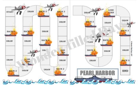 Pearl Harbor Printable File Folder Game