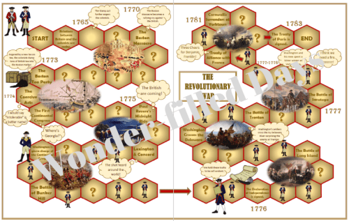 Revolutionary War Printable File Folder Game
