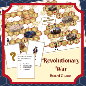 Revolutionary War Printable Game