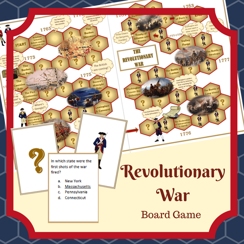 Revolutionary War Printable Game