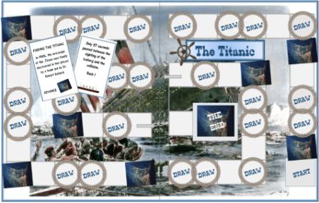 Titanic Printable History Board Game