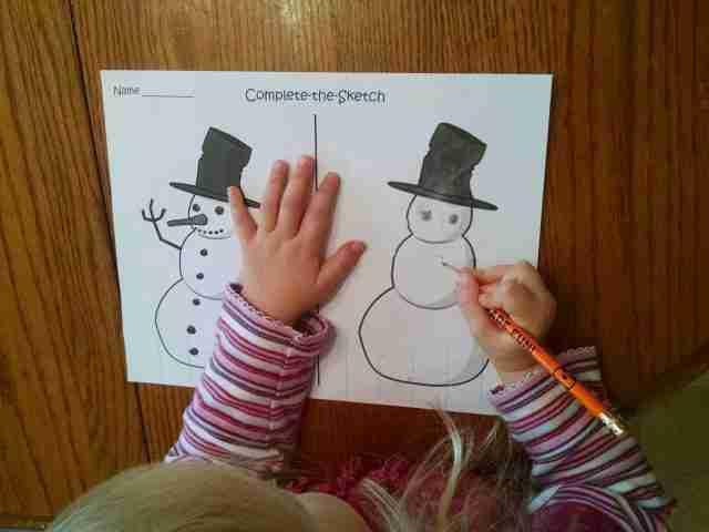 Preschool Complete the Sketch