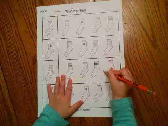 Preschool Matching Printable