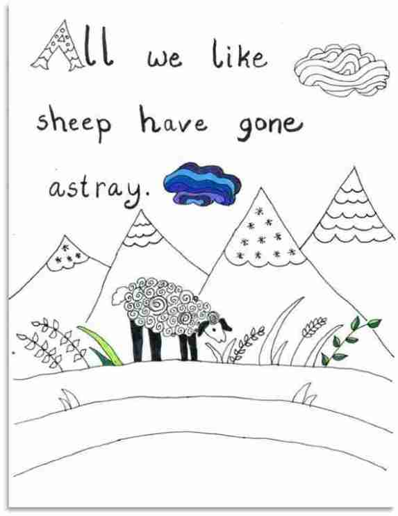 Preschool Bible Verse Coloring Sheet