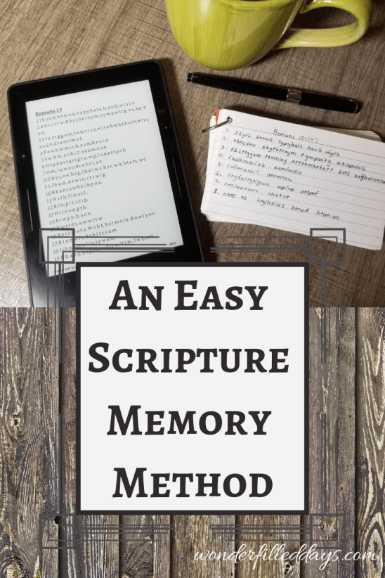 Easy Scripture Memory Method