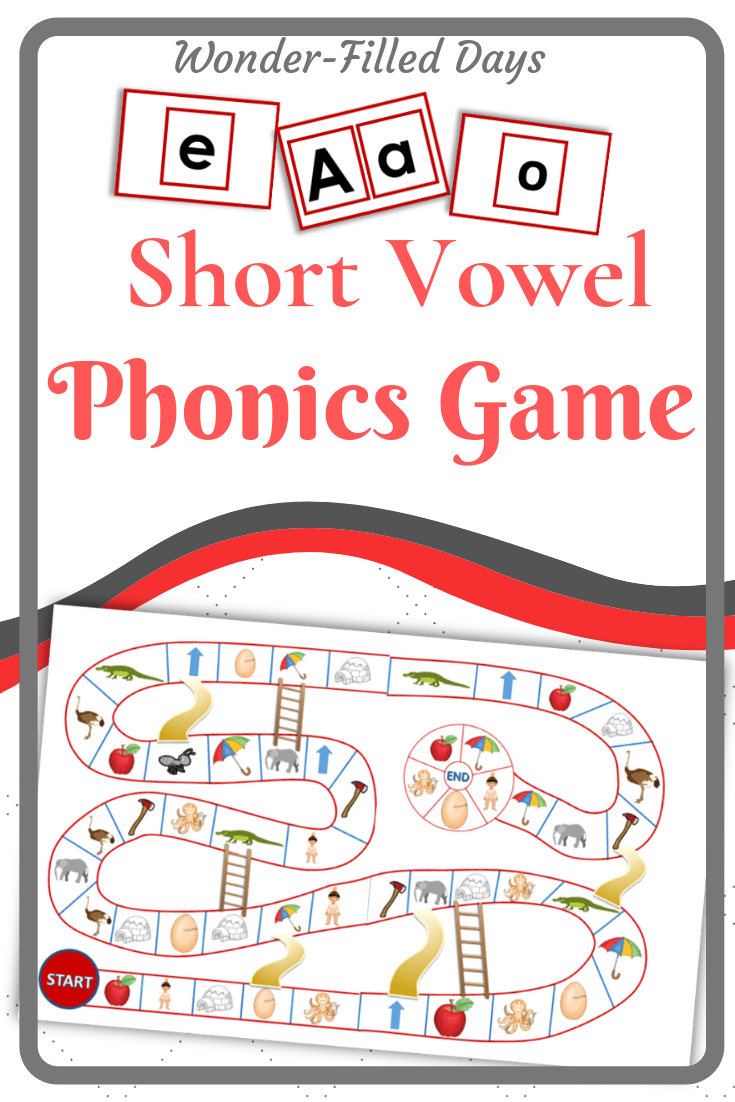 photograph relating to Printable Short Vowel Games referred to as Printable Quick Vowel Phonics Recreation - Speculate-Stuffed Times