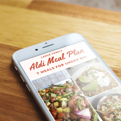 Aldi Meal Plan for Large Families