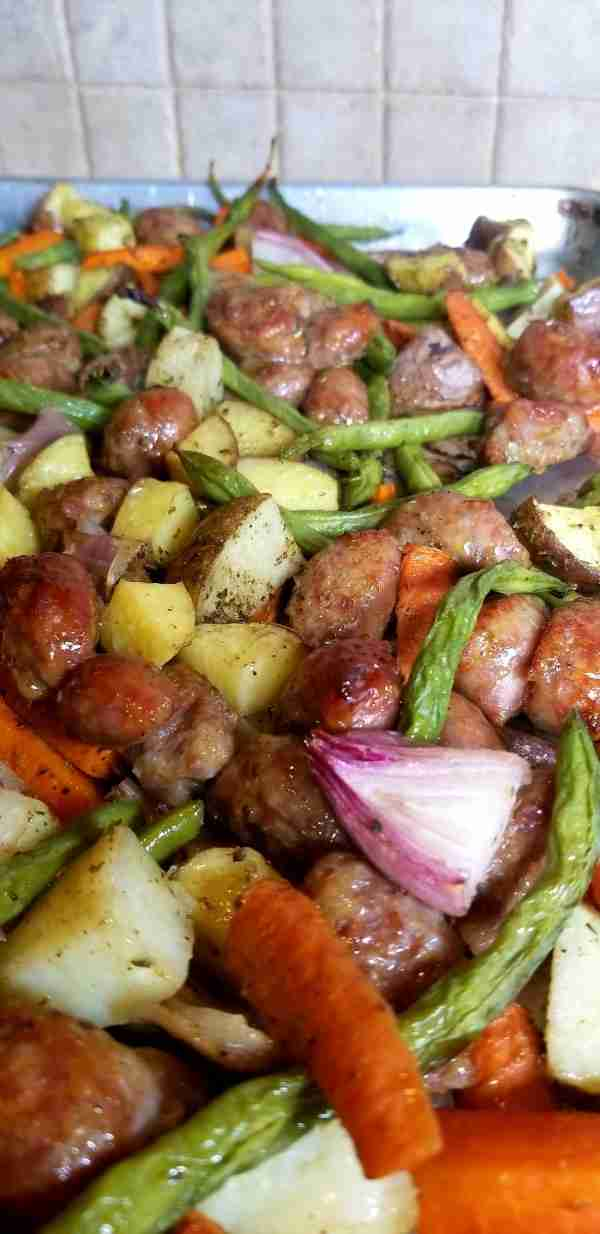 Aldi Meal Plan- Italian Sausage Vegetable Bake