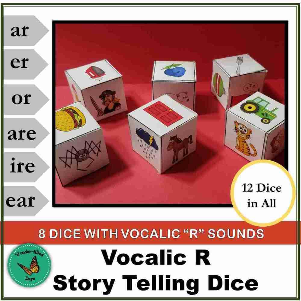 Vocalic R Story Telling Dice