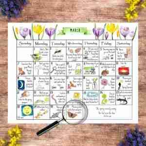 March Nature Calendar 2021