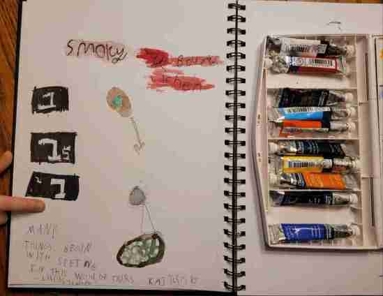 child's journal page