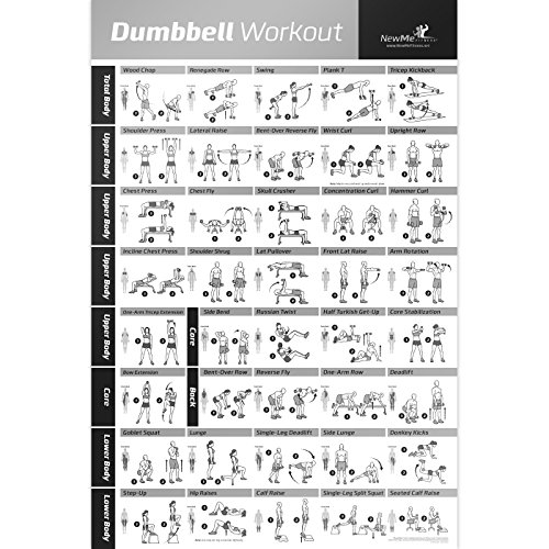 Dumbbell Workout Exercise Poster Resistance