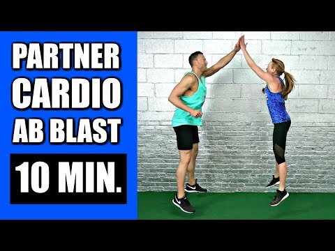 10 MINUTE PARTNER WORKOUT WITH CARDIO ABS EXERCISES   Fat Burning Bodyweight Partner Workout Routine