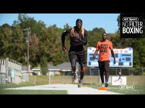 Speed and agility training with Deontay Wilder   No Filter Boxing