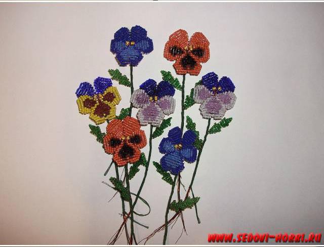 Wonderful DIY Creative Beads Pansy Flower