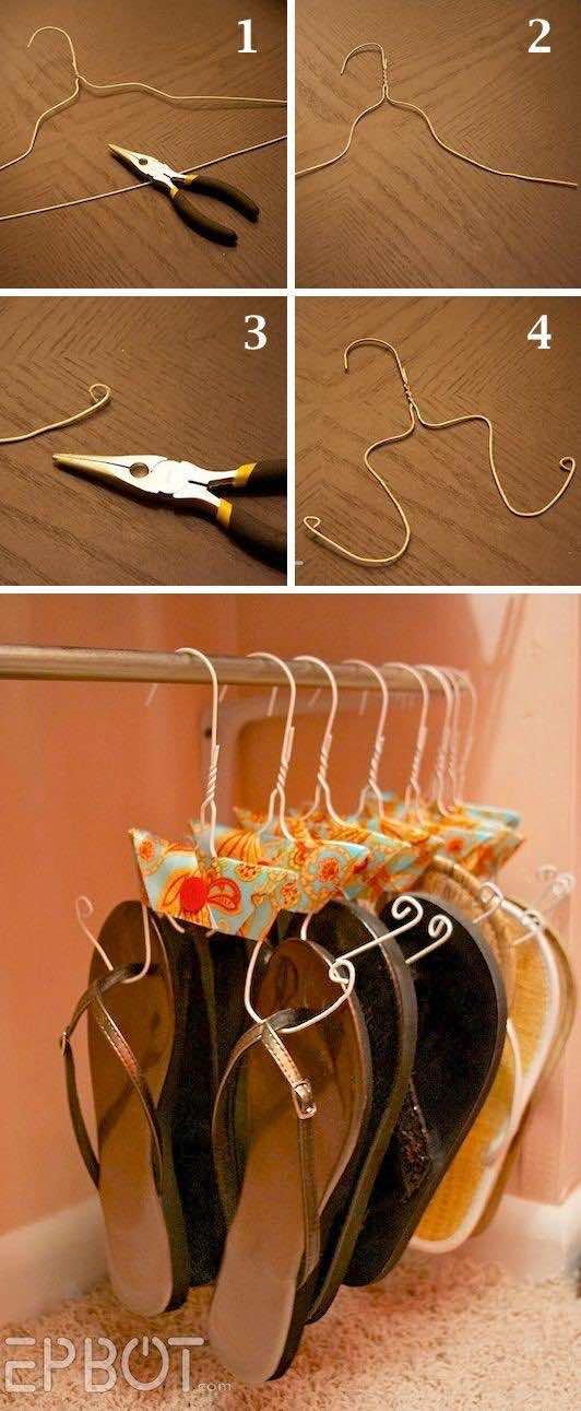 11. DIY Flip Flop Storage