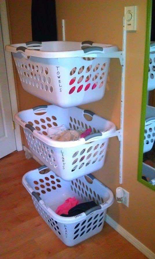 3. Laundry Basket Shelf