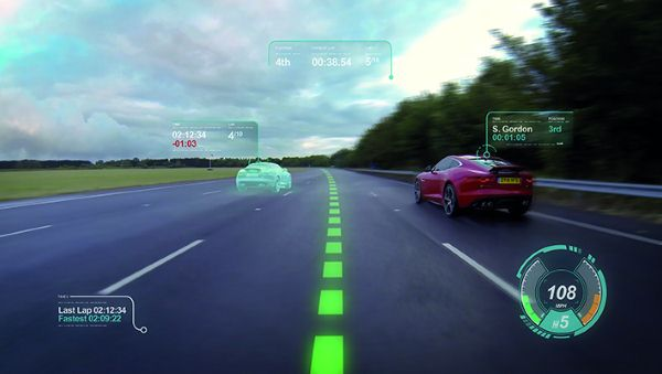 Jaguar Introduces Virtual Windscreen Concept With Ghost Cars And Virtual Driving Lanes