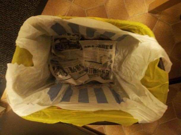 15. Newspaper Beneath your Garbage