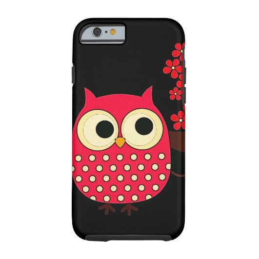 1. Girl Owl with Flowers iPhone 6 Case