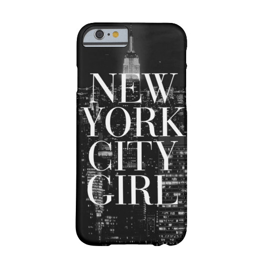 10. New York City Girl Black White Skyline Typography iPhone 6 Case