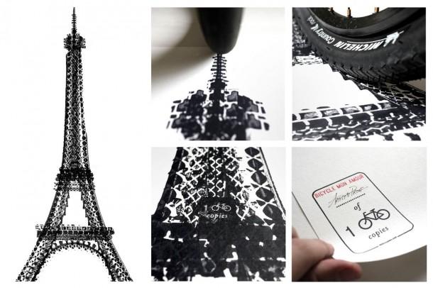 Bicycle Tire Art – 100 Copies6